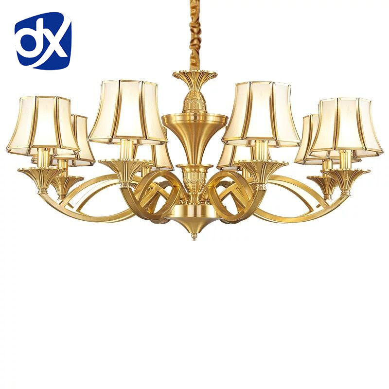 Luxury Copper Chandelier Light Living Room Chandelier Lighting Luxury Copper Lamp