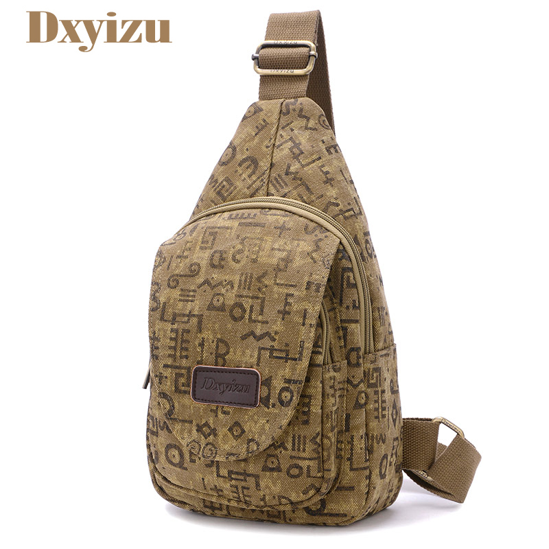 Vintage Men Messenger Bag Casual Clutch Travel Rucksack Character Chest Bag Canvas Crossbody Fanny Shoulder Back Pack bolsas