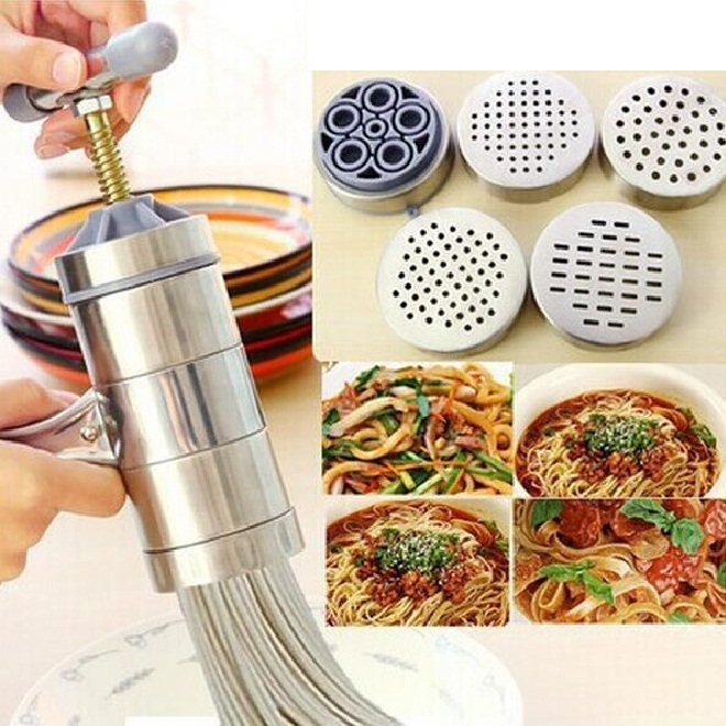 Household Stainless steel mini pasta machine manual pressing machine kitchen Noodle Tools...