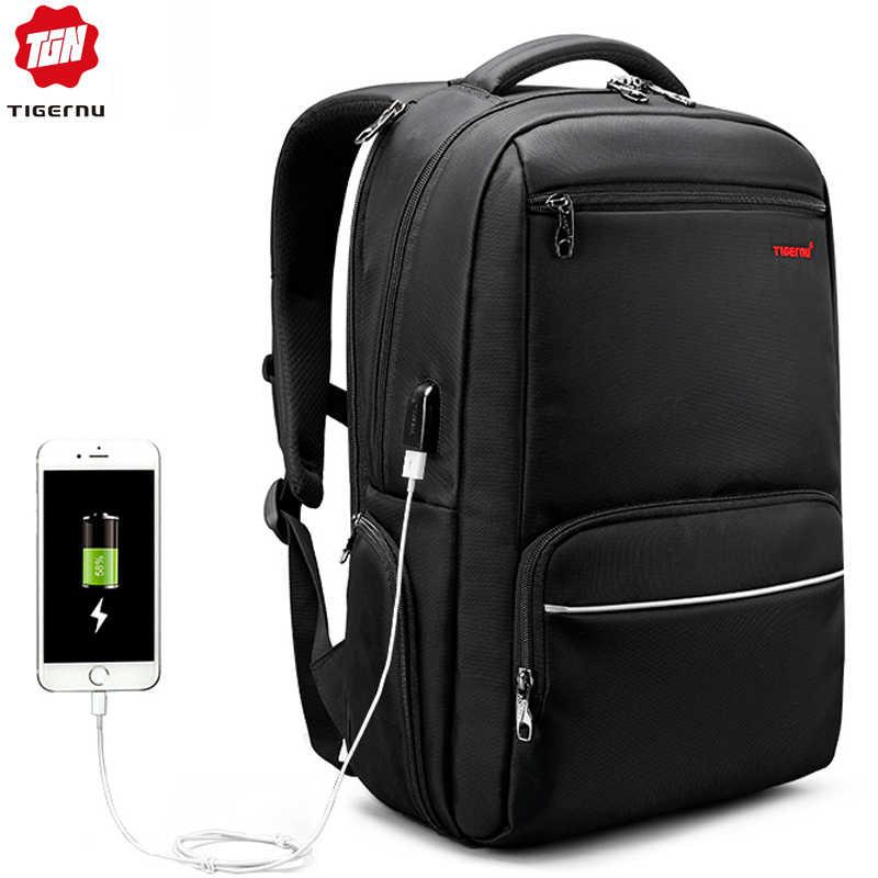 3a5e723ccfe Tigernu Men Backpack Nylon Waterproof Anti Theft Male Mochila Travel Laptop  Backpack 15.6 inch 25L Large