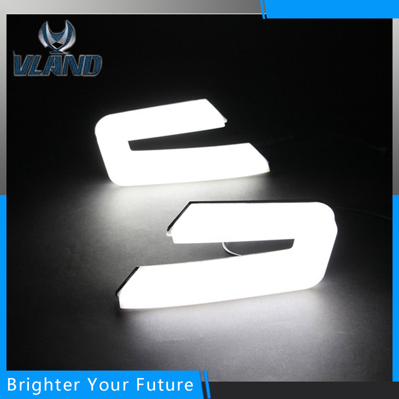 LED Водонепроницаемый дневного света для Хонда Аккорд 2013 2014 2015 светодиодные фары дневного света DRL противотуманная фара