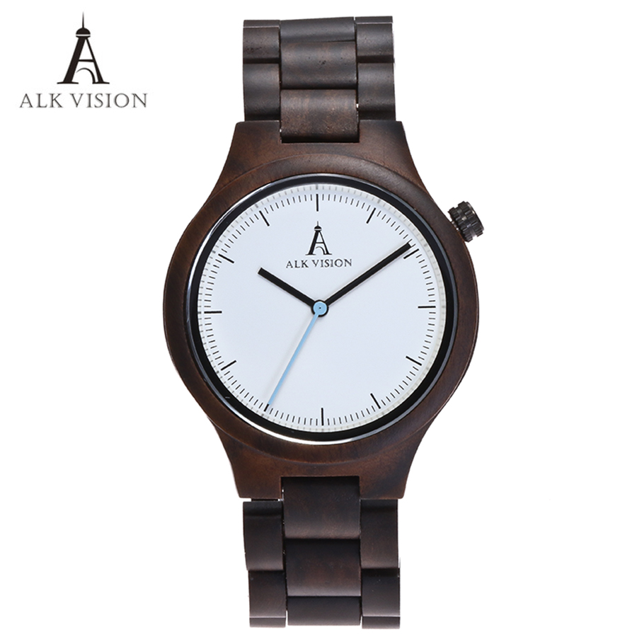 Wood Clock Designer Watches Men High Quality Wooden Watch Eco Friendly Ebony Wood Band Watch Quartz Times Mechanism