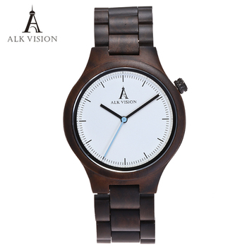 Wood Clock Designer Watches Men High Quality Wooden Watch Eco friendly Ebony Wood Band Watch Quartz Times Mechanism redear top quality wood men watch automatic zebra wood and ebony black watch the best gift for man without logo