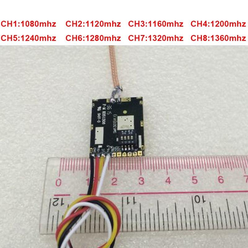 35 km trabalho 200 mw 1.2G transmissor sem fio 1.3G FPV remetente remetente CCTV sem fio 1.3G transmiss molde zangão FPV tx transmissor