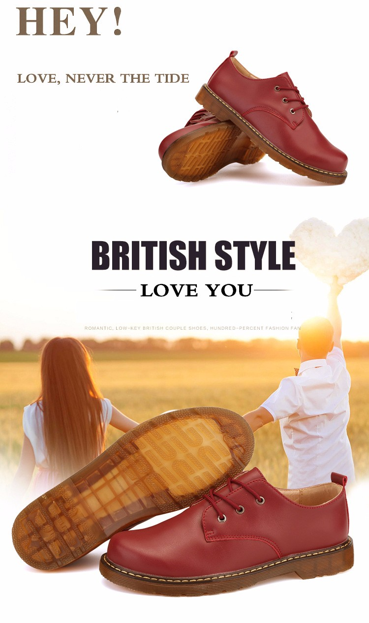 KUYUPP Fashion England Genuine Leather Shoes Women And Men Flats Oxfords Casual Lace Up Ladies Shoes Round Toe Men Loafers PX128 (11)