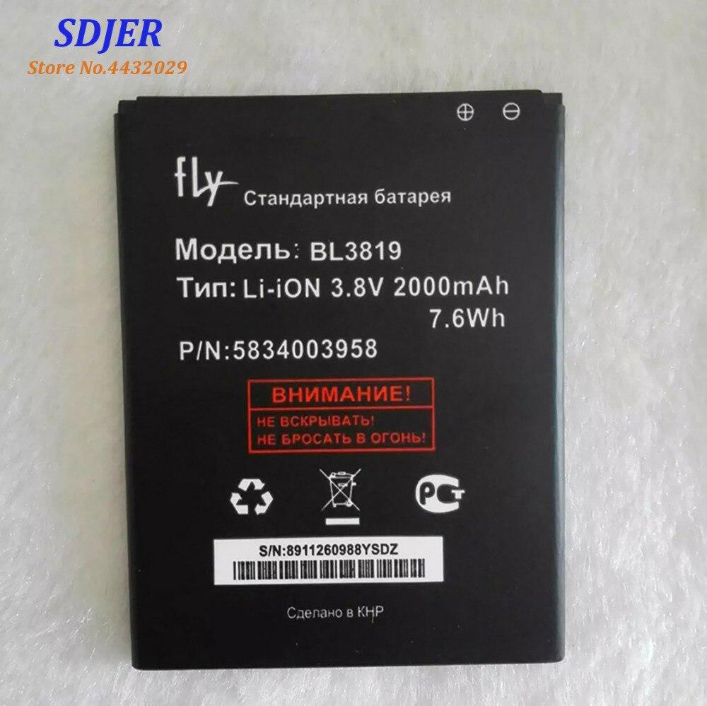 2018 Haute Qualité BL3819 Batterie Pour Fly IQ4514 Quad EVO Tech 4 Li-ion 2000 mAh Mobile Téléphone Bateria Batterie Baterij en Stock