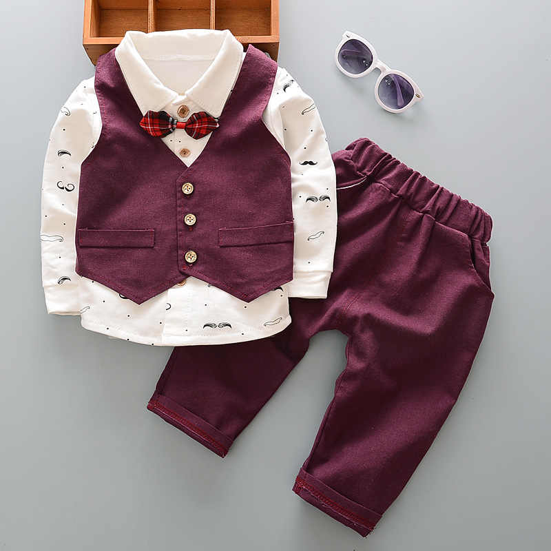 1a40c377338b Detail Feedback Questions about DIIMUU Toddler Baby Boy Clothing Gentlemen  Suits Kids Children Boys Clothes Wedding Party Red Bow Tie British Style Set  Fit ...