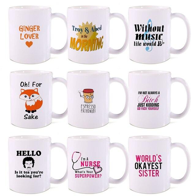 Creative Holiday Wünsche Keramikkaffeetasse Chat Lustige Einhorn