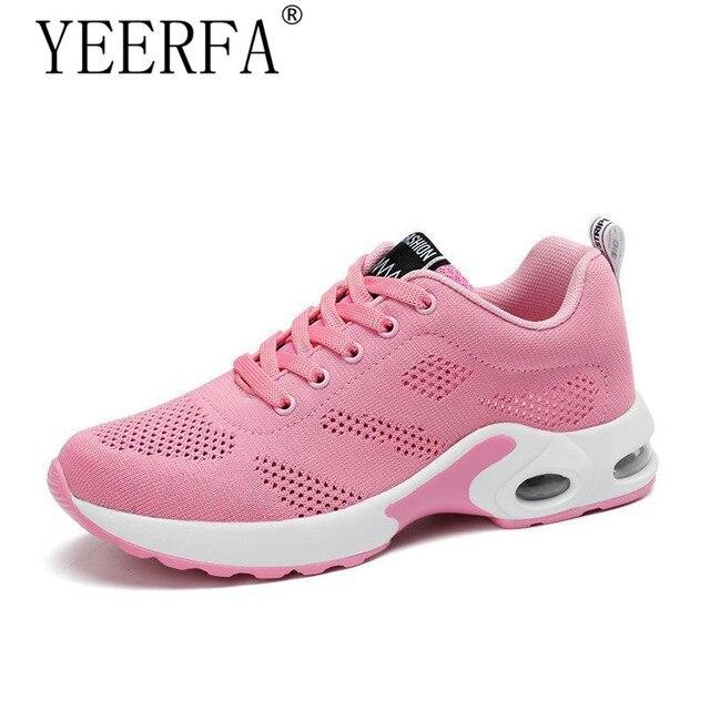 e96b9d3a7 YEERFA 2018 Moda Coreana Mulheres Sapatos Aumento da Altura do Outono Tenis  Feminino Sapatos Casuais Sapatos