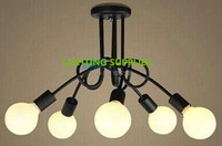 5 sets 5 head E27 Pendant lamp holder spider LED Hanging Diningroom Lamp base Chandelier Converter drawing room socket adapter