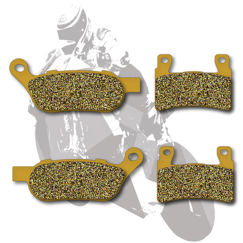 Motorcycle Disc Semi-Metallic Brake Pads Front & Rear For HARLEY FLSTF 1690 Fat Boy 2015 FXDB 1690 Street Bob 2015