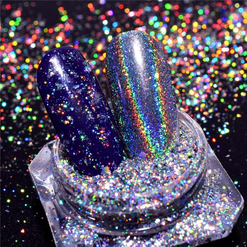 Nails Art & Werkzeuge Unter Der Voraussetzung 0,1 Gr/schachtel 3d Flakes Für Nägel Pailletten Holographische Glitter Pulver Galaxy Holo Nagel Bling Regenbogen Nail Art Pailletten Nagelglitzer