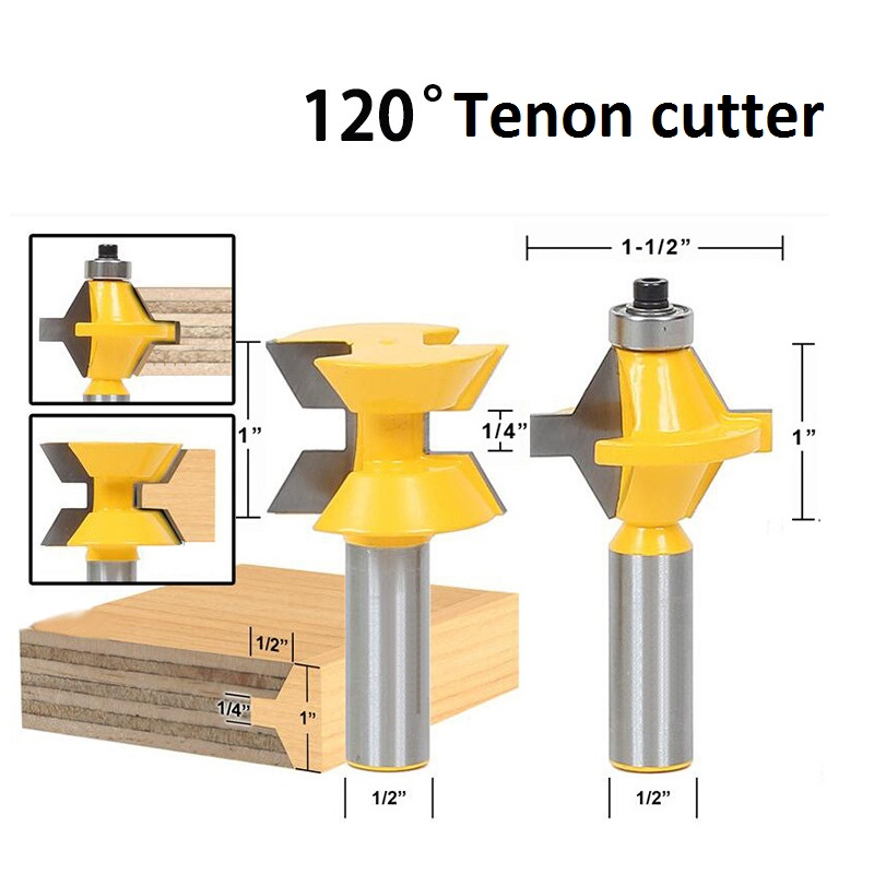 2Pcs 1/2 Shank Router Bit Set 120 Degree Woodworking Groove Chisel Cutter Tool Free Shipping 2pcs 1 2 shank router bit set 120degree woodworking groove chisel cutter tool g205m best quality