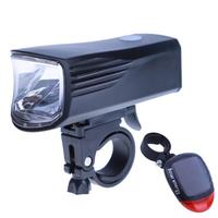 360 Swivel USB Rechargeable MTB Bike Front Light Bicycle Solar Back Rear Lights Set Adjustable Cycling