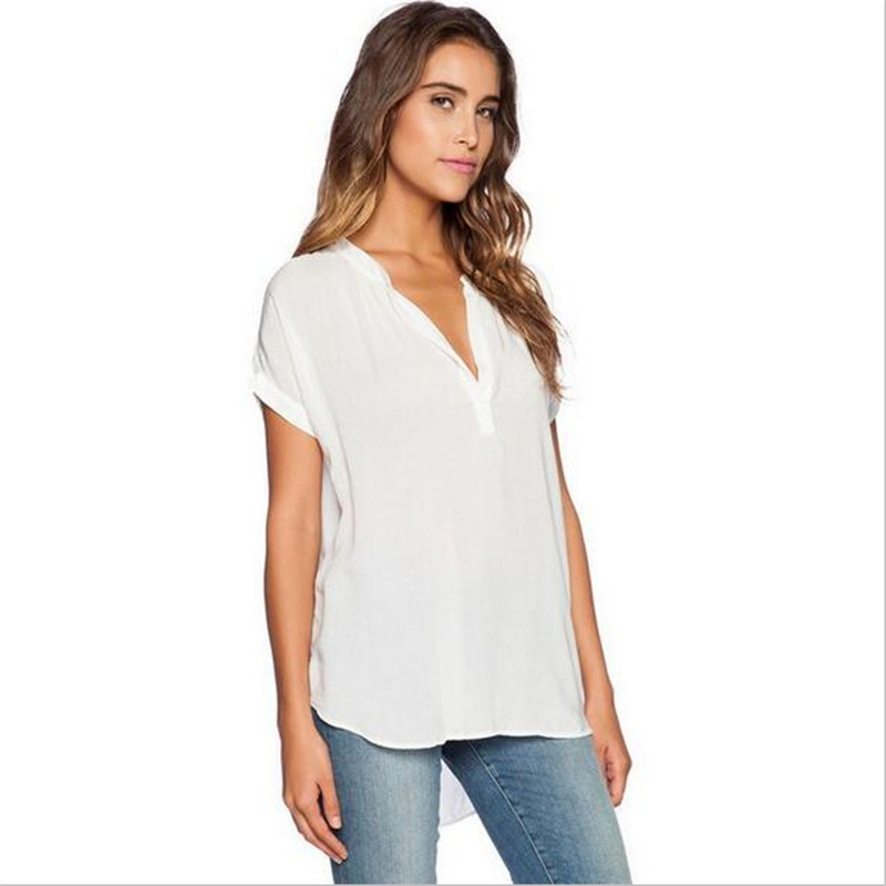 Buy big size women summer t shirts for Large v neck t shirts