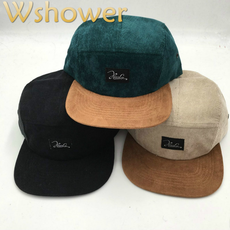 Which In Shower Adult Adjustable Brim Trend Baseball Hat Bone Gorras Corduroy Plain Brand 5 Panel Snapback Cap Men Hip Hop