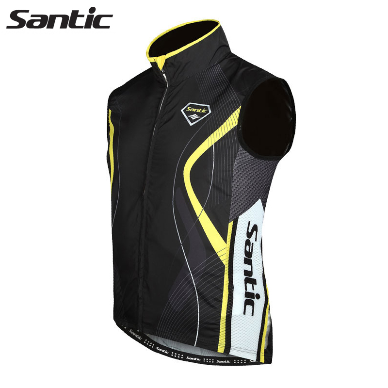 Santic Sleeveless Cycling Jersey Windproof Bicycle Clothing Men Anti-sweat Pro Racing Road MTB Bike Jersey Ropa Maillot Ciclismo santic men short sleeve cycling jersey breathable summer cycling clothing mtb road downhill bicycle bike jersey anti sweat