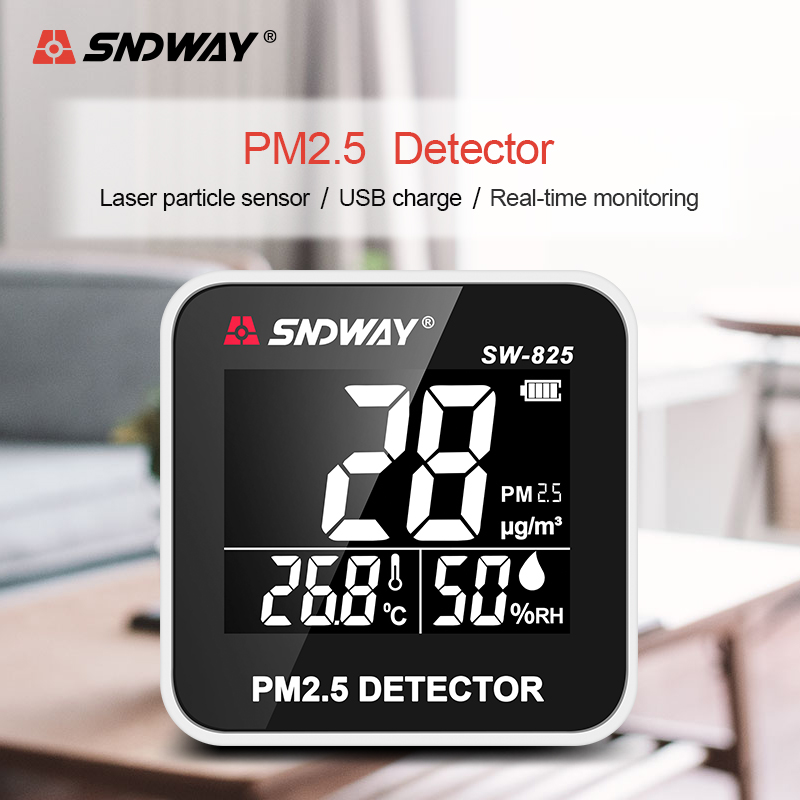 Digital Air Quality Monitor Laser PM2.5 Detector Gas Temperature Humidity Monitor Analyzer Meter Diagnostic Health Care Tool