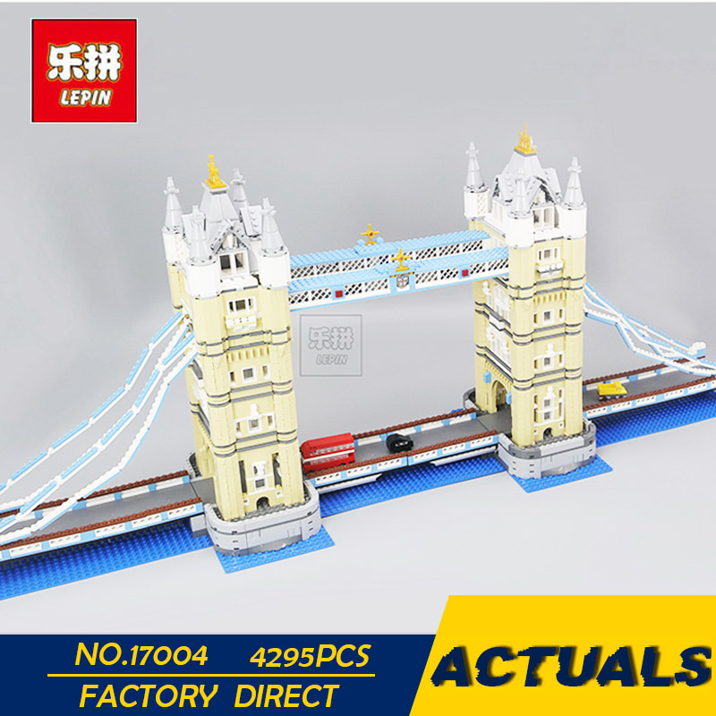 LEPIN 17004 4295 PCS London Tower Bridge Building Block Set Kit Bricks Christmas Gift Clone 10214 тумба под телевизор sonorous neo 81 c slv