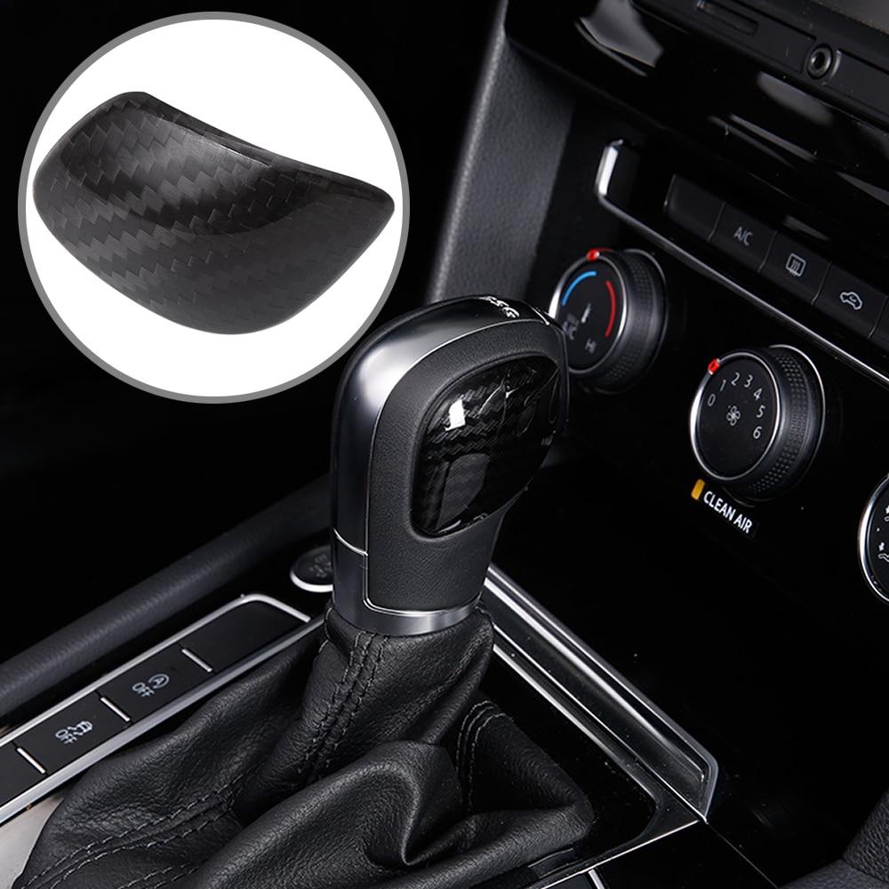 Car styling gear shift knob gear head cover sticker for VW Volkswagen Golf 7 MK7 Golf 5 6 Passat B5 B6 B7 Polo CC Tiguan Jetta-in Car Stickers from Automobiles & Motorcycles