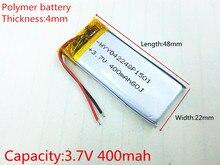 Polymer battery 400 mah 3.7V 402248 smart home MP3 speakers Li-ion battery for dvr,GPS,mp3,mp4,cell phone,speak