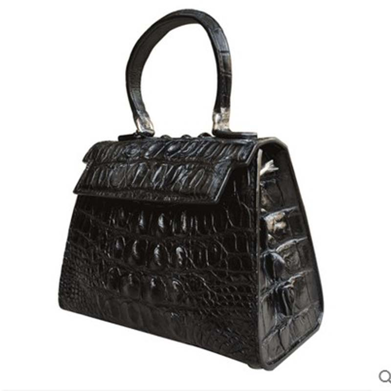 yongliang The new leather crocodile leather handbags leather fashion shoulder bag with anticline the new winter handbags in europe and the tide crocodile grain female bag brand shell package one shoulder inclined shoulder bag
