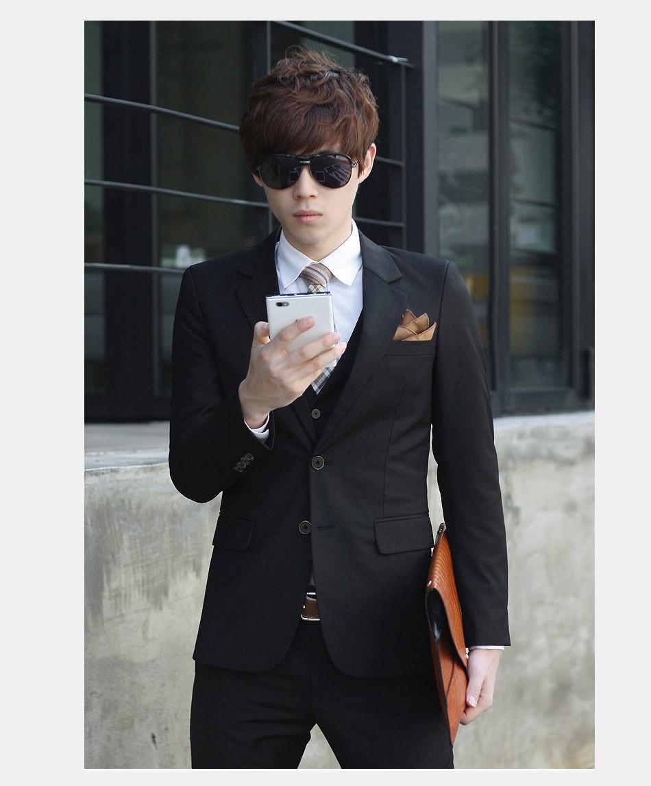 (Kurtka + Spodnie + Tie) luksusowe Mężczyzn Garnitur Mężczyzna Blazers Slim Fit Garnitury Ślubne Dla Mężczyzn Kostium Biznes Formalne Party Niebieski Klasycznej Czerni 17
