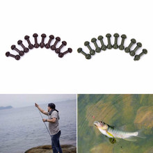 10Pcs Carp fishing chod beads Release Rig Heli chod beads carp fishing swivel accessories Green Brown Color(China)