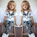 Baby Girl Stripe T-Shirt+Pants 2Pcs Outfits Clothes Set UK