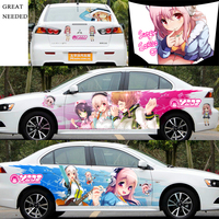 DIY 3D Car Whole Body Sticker Styling Decal Exterior Accessories Sticker On Car Anime Graffiti Stickers Hood Sticker CNS001