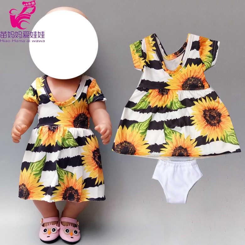40 Cm Boneka Bayi Bunga Matahari Gaun 18 Inch Boneka Gadis Clothesone Bahu Bell-Bottom Pakaian