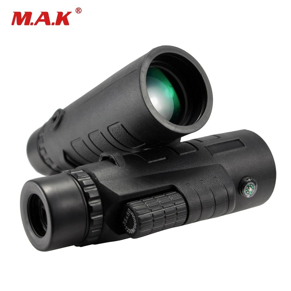 35x50 Focalizare oculară Monocular optic cu unghi larg reglabil cu bandă de mână pentru vânătoare