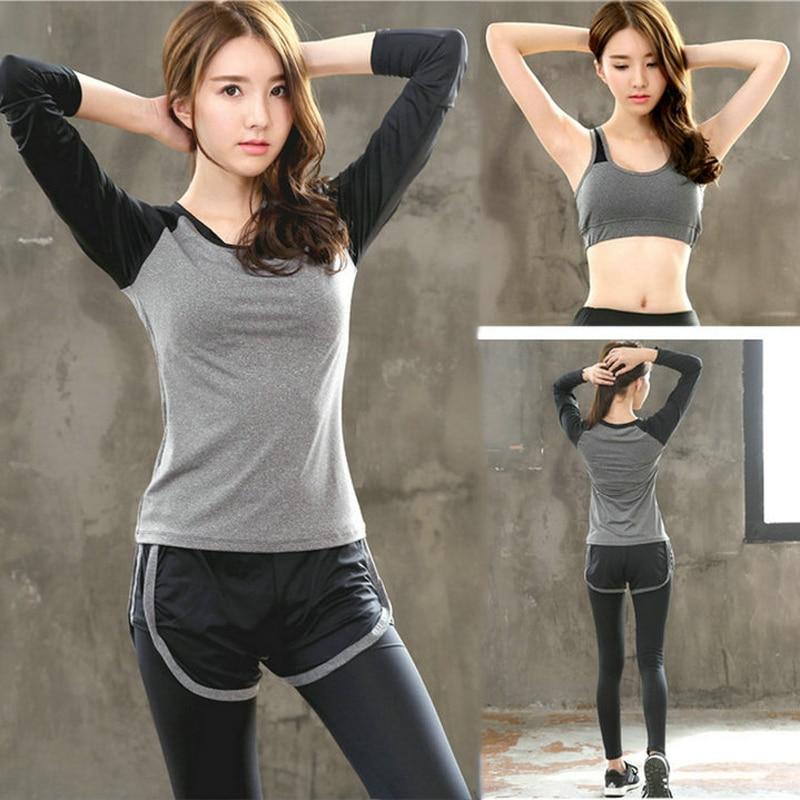 ①  Компактный эластичный женский GYM Спортивный комплект для йоги 3 шт. Спортивный костюм для йоги Дыша ①