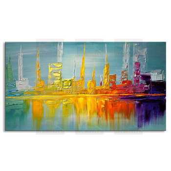 Hand painted abstract oil painting on canvas modern 100% best art original directly from artist COX1-021