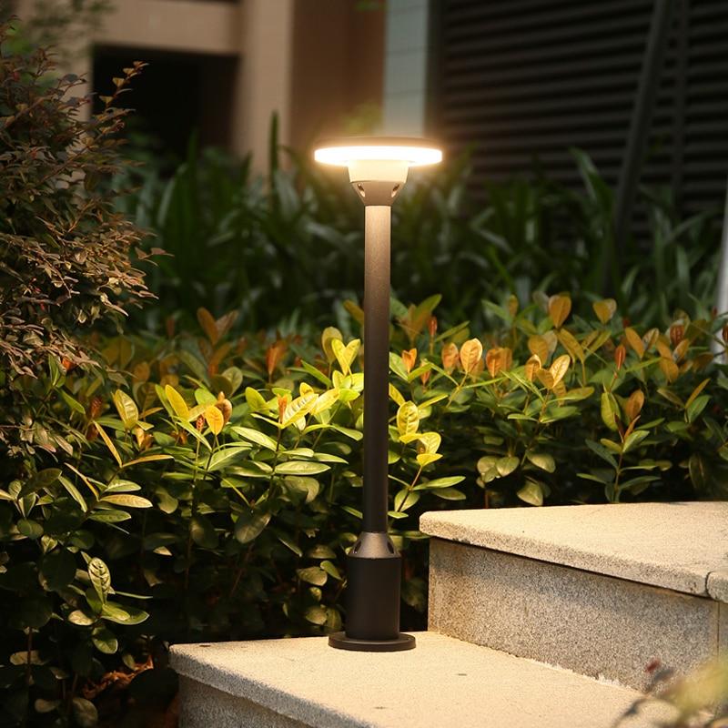 Us 32 24 50 Off Outdoor Led Landscape Lighting Modern Waterproof Lamp Post Aluminum Garden Lights Ip54 Lawn Lamps Courtyard Path Light In