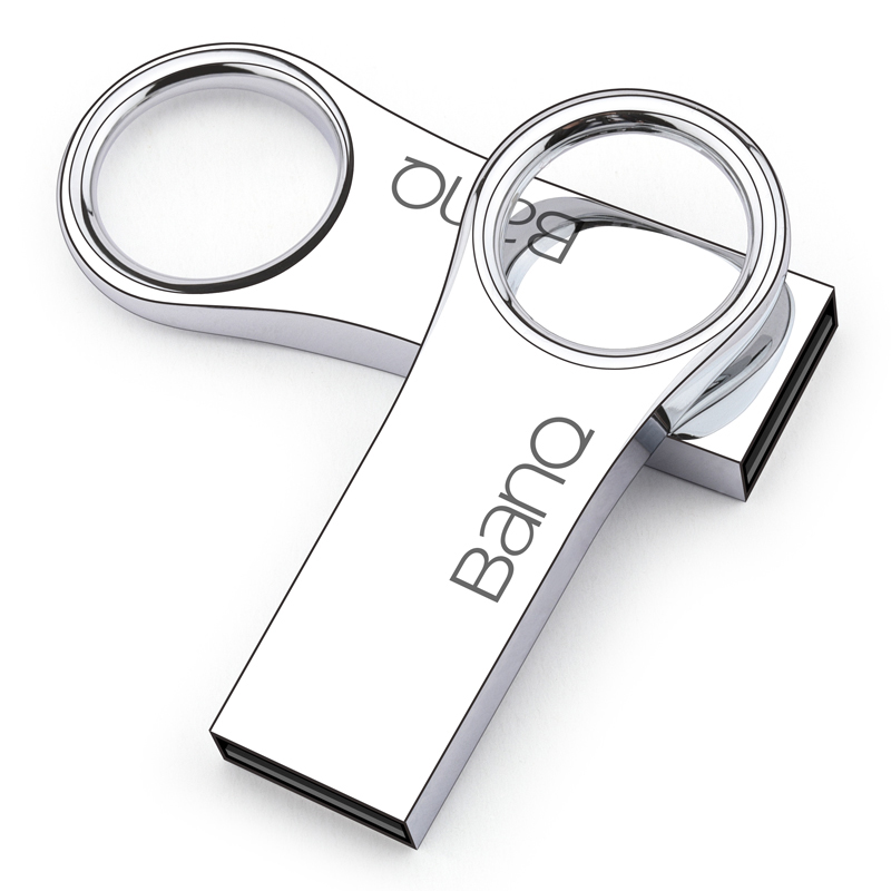 BanQ P8 USB Flash Drive, 64GB Metal Waterproof Pendrive USB Memory Stick 32GB Pen Drive Real Capacity 16GB USB Flash U disk banq c61 usb flash drive 32gb otg metal usb 3 0 pen drive key 64gb type c high speed pendrive mini flash drive memory stick 16gb