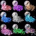 (1 Unids/Venta) Corazón Cariñoso Láser brillante DIY Decoraciones Glitter Nail art Dlitter Para Mujeres Polvo Superfino moda Hermosa