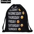 Deanfun Caliente-venta 3D Impresión Emoji Semana Negro Patrón de Viaje Mochilas Softback Hombre Mujer Personalizada de Alta Calidad SKD59