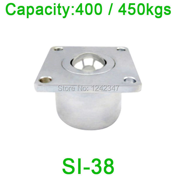 Free shipping SI-38 ball bearing unit,SI38 450kgs capacity Heavy Duty Square Flange Ball transfer unit