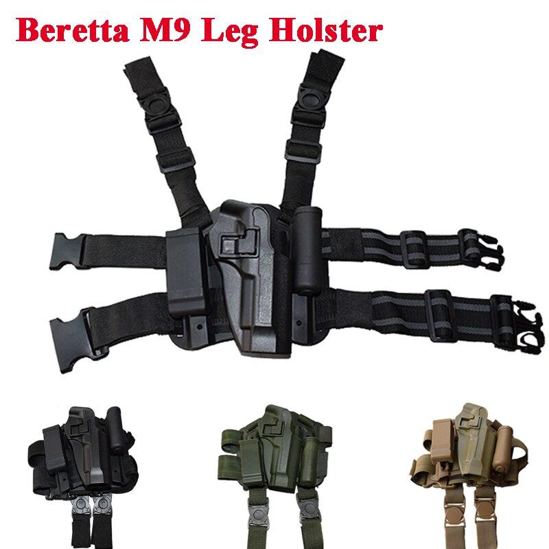 Military Beretta M9 Pistol Leg Holster Tactical Hunting Paintball Airsoft Sport Handgun RH Thigh For 92 96
