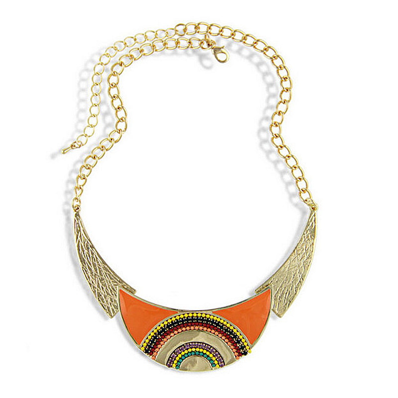 2016 New ethnic boho women maxi colar choker necklace summer trendy rice beads statement necklace Bijoux