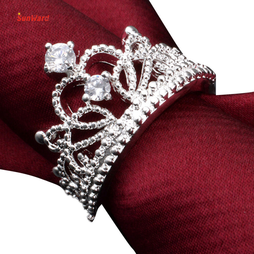 OTOKY Women Princess Wedding Crown Ring Jewelry Ring Fashion Engagement Promise Rings 1PC