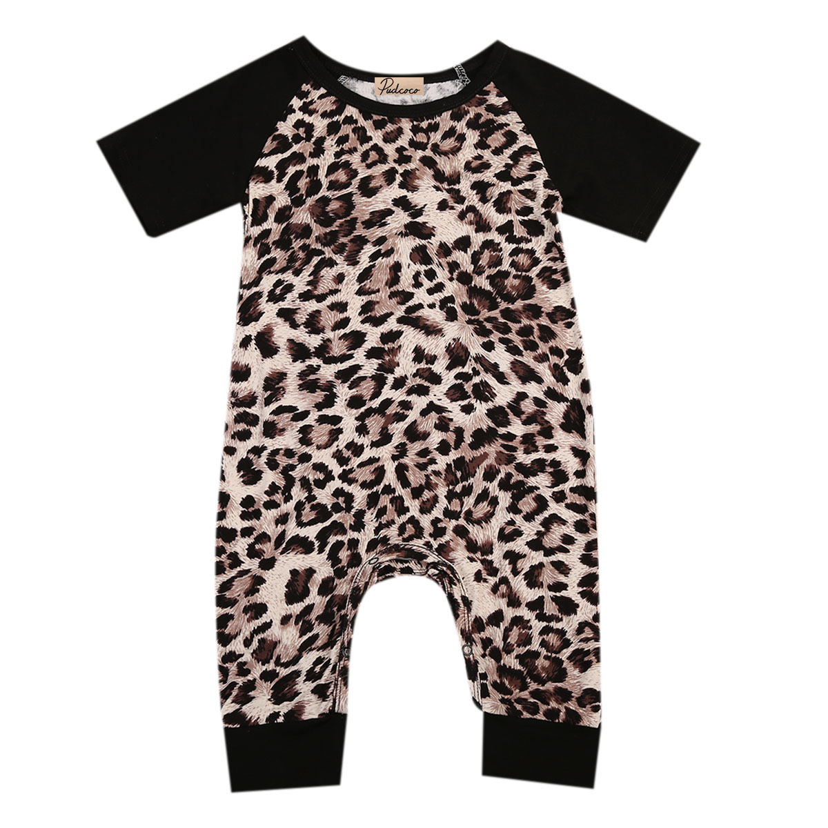 Black Infant 0-24M Baby Boys Girls Short Sleeve New Romper Outfits Sunsuit Kids One-Piec ...