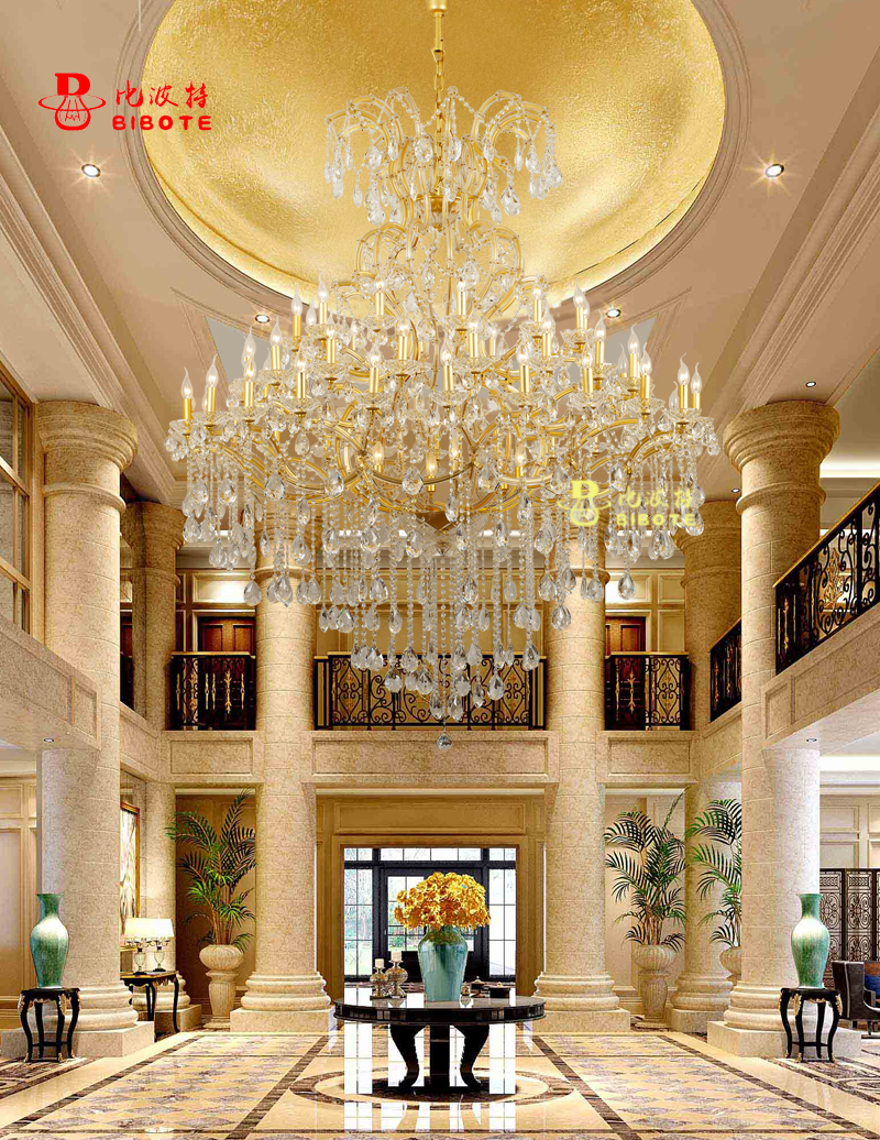 Hotel Lobby Chandelier Maria Theresa Crystal Chandeliers Large Luxury Big Hanging Lamps Home Light Lighting with K9 Crystals недорго, оригинальная цена