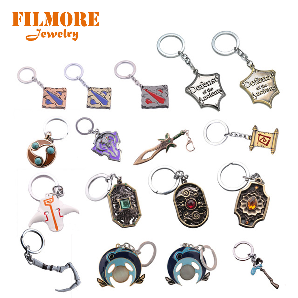 17 Style Dota2 Logo Keychain Hot Game Defense Of The Ancients