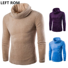 LEFT ROM 2017 The winter men's high collar sweater slim beijirong thickening fashion leisure jumper Solid color Keep warm Jacket