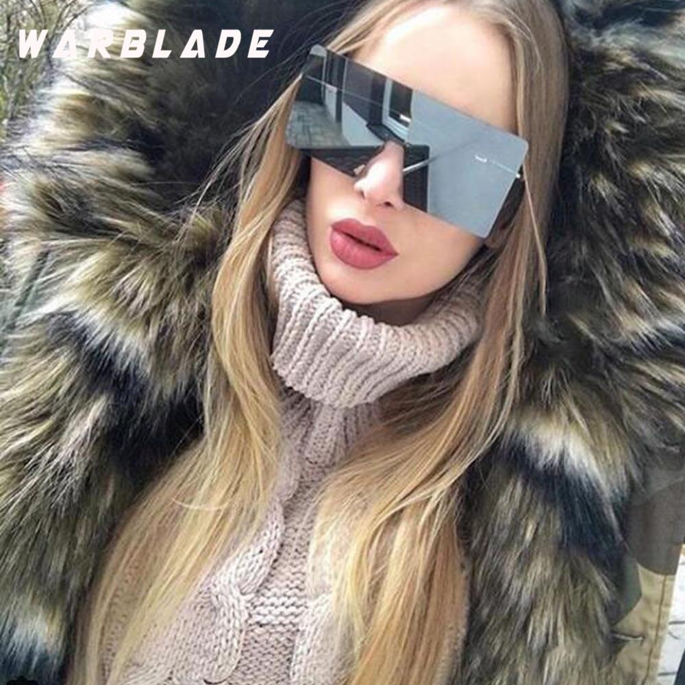 WarBLade böyük bir parça lens gözlük qadınlar kvadrat mavi - Geyim aksesuarları - Fotoqrafiya 1