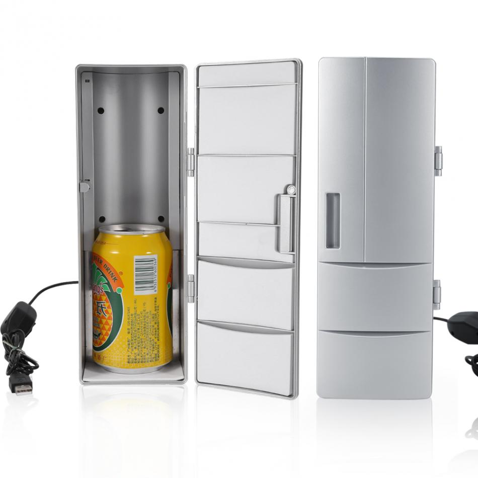 100% Brand Portable Mini USB PC Laptop Fridge Cooler PC Refrigerator Warmer Cooler Beverage Drink Cans Freezer Beer Cooler usb 冷蔵庫