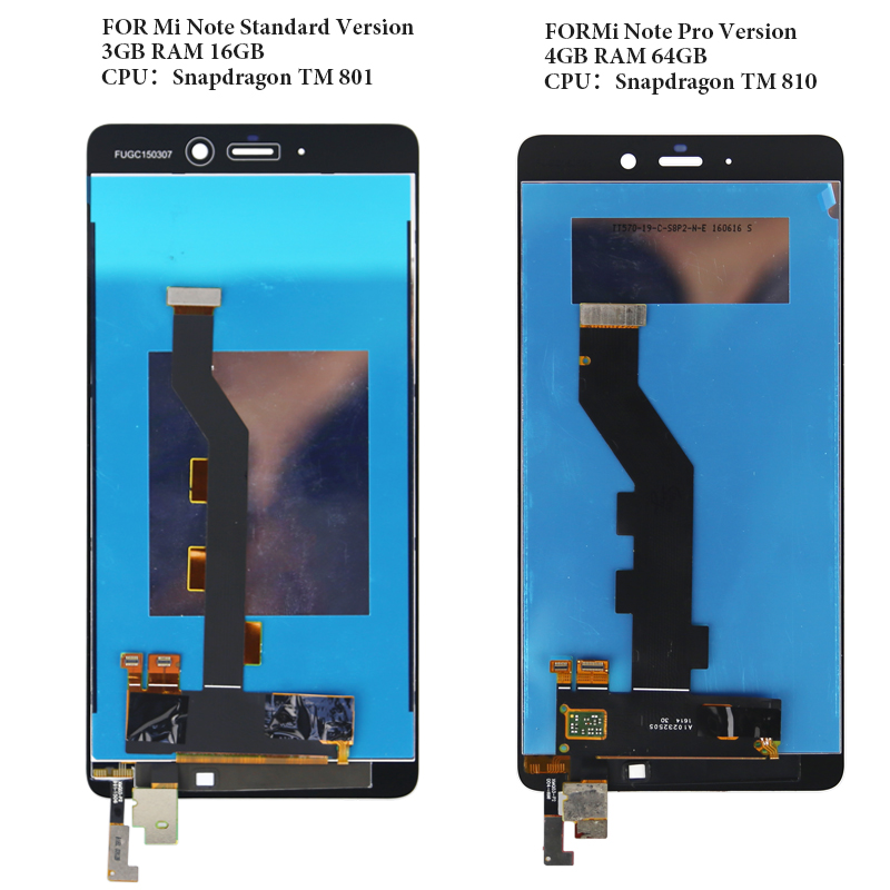 For Xiaomi Mi Note lcd display standard 3GB pro 4GB version 5 7 inch no dead pixel Good quality assembly replacement OEM in Mobile Phone LCD Screens from Cellphones Telecommunications