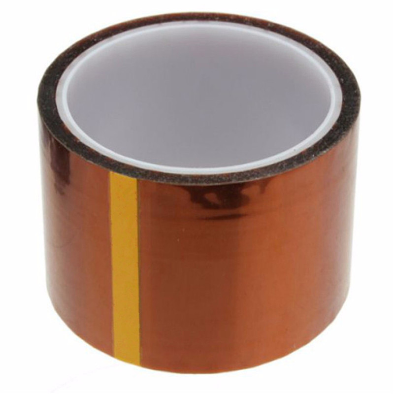 50mm x100ft One-side Self-adhesive High Temperature Heat Resistant Polyimide Tape For BGA PCB high temperature heat resistant polyimide adhesive tape 65mm x 30m 260 300 degree new for electronics industry